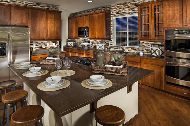 Vista ridge model home kitchen contemporary kitchen for Model home kitchens