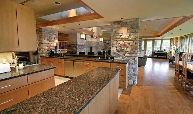 Vitas Prairie Style Contemporary Kitchen Milwaukee