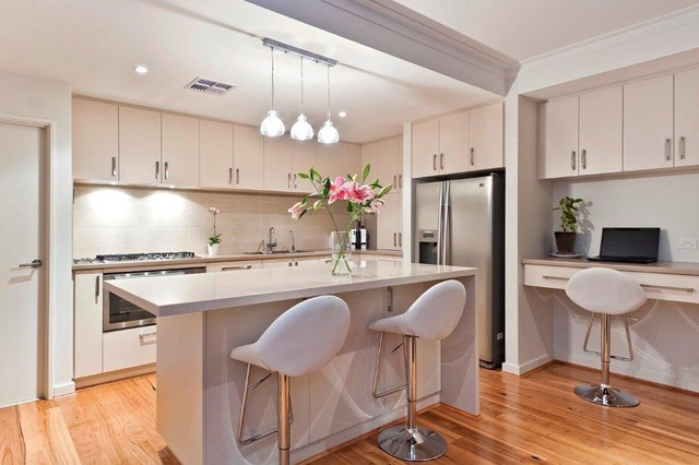 Viveash contemporary kitchen other metro by for Computer in kitchen ideas