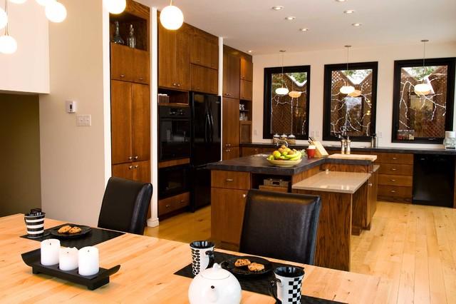 Vivre en banlieue | Living in the suburbs contemporary-kitchen