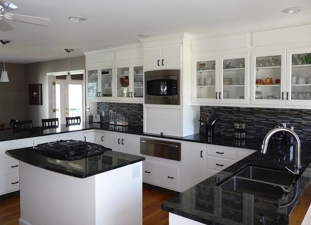 Volga Blue Granite Kitchen - Kitchen Design Ideas