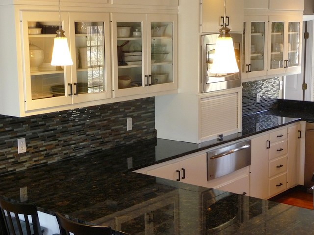 volga blue countertops traditional kitchen