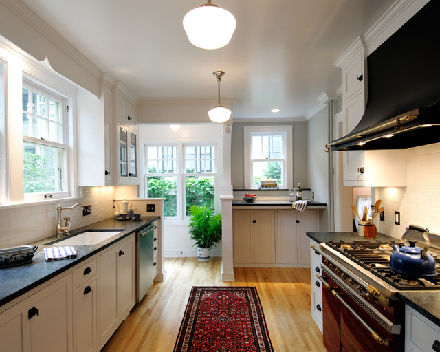 Volnay galley kitchen traditional kitchen for Kitchen designs houzz