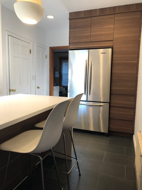 Voxtorp White And Walnut Ikea Kitchen In Staten Island