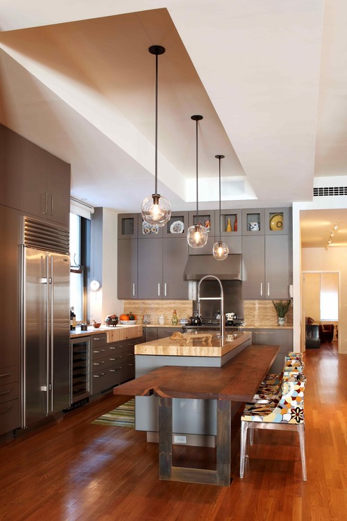 Contemporary Kitchen by New York Interior Designers & Decorators valerie pasquiou interiors + design, inc