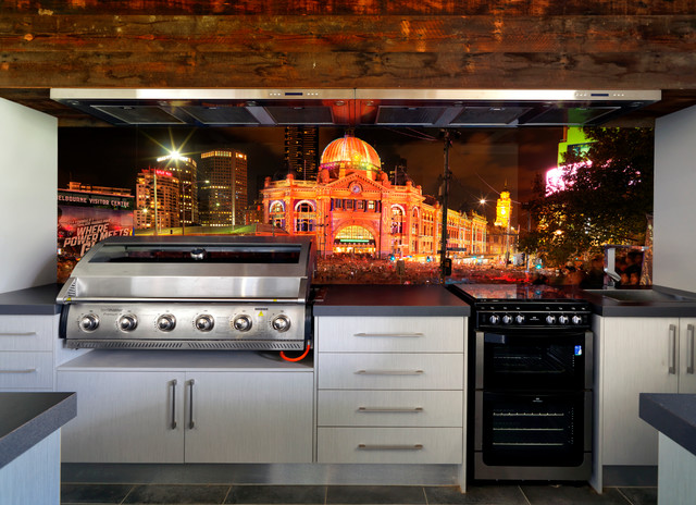 Vr Art Glass Outdoor Kitchen Splashback Melbourne
