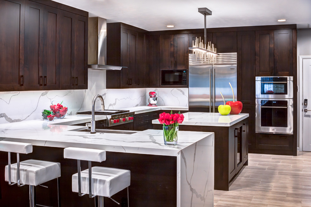 W Clay Phase III - Contemporary - Kitchen - Houston - by ...