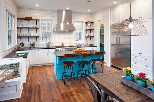 Wahoo Lake House Kitchen Eclectic Kitchen