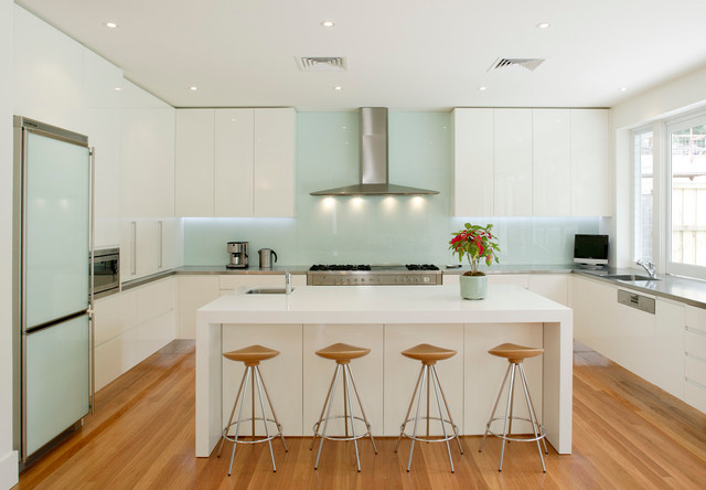 """Wahroonga - Contemporary - Kitchen - Sydney - by Andrew Dee @ Wonderful Kitchens"""" Willoughby"""""""