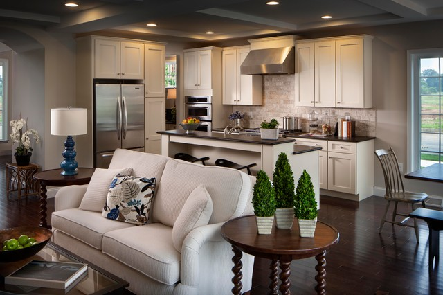 Walden model home traditional kitchen other metro for Decorating ideas for open concept living room and kitchen