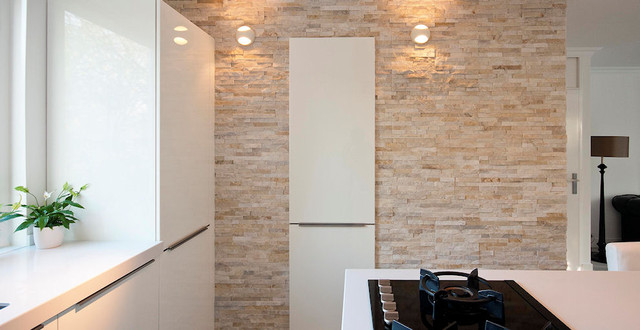 Wall panels modern kitchen amsterdam by barroco - Kitchen wall covering options ...