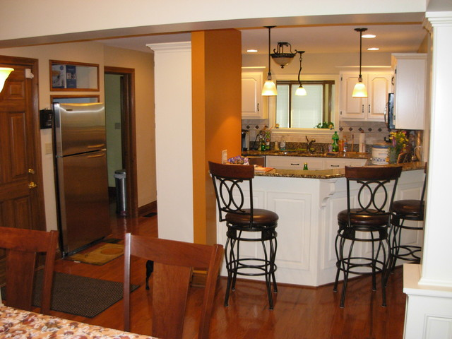 Wall Removal And Expansion In Greenwood Indiana Traditional Kitchen Indianapolis By