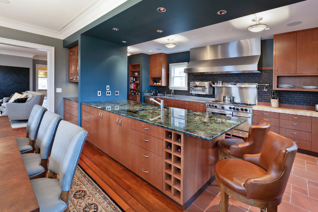 Wallingford residence kitchen peninsula contemporary - Round table montgomery village ...