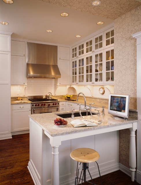Wallpapered Kitchens traditional-kitchen