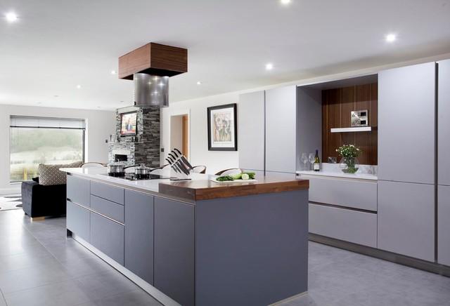 Walnut u0026 Grey contemporary-kitchen & Walnut u0026 Grey - Contemporary - Kitchen - Other - by The Design Yard