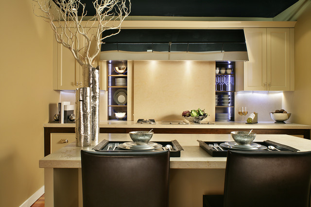 & Khaki  Transitional  Kitchen  new york  by Bilotta Kitchens