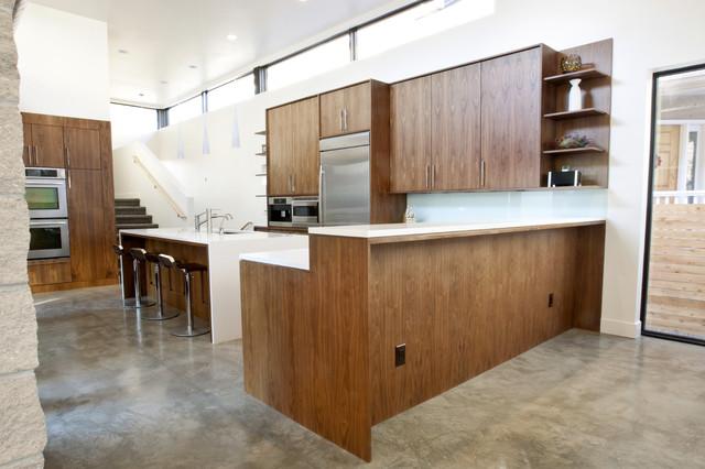 Walnut and White Kitchen - Modern - Kitchen - denver - by Design Platform