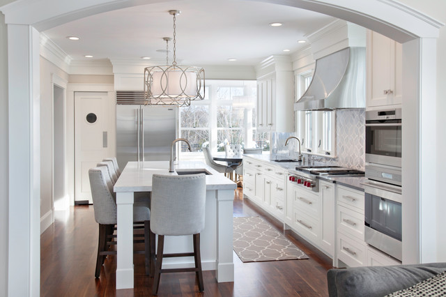 Walnut and White - Transitional - Kitchen - Boston - by New ...