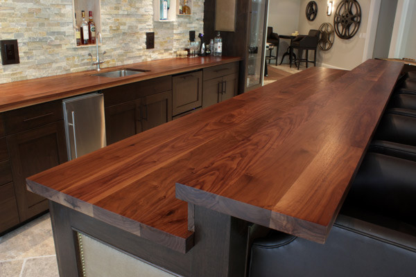 Bar Top and Walnut Perimater Countertop - Contemporary - Kitchen ...