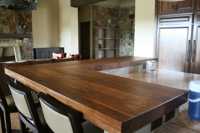 Walnut Bar Tops Transitional Kitchen Austin By Wr