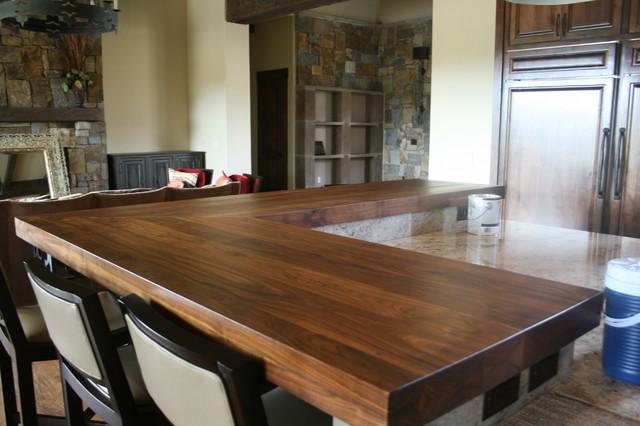 Walnut Bar Tops Transitional Kitchen Austin By Wr