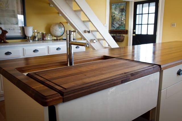 Walnut countertops traditional-kitchen