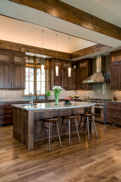 Walnut Cove Residence Rustic Kitchen