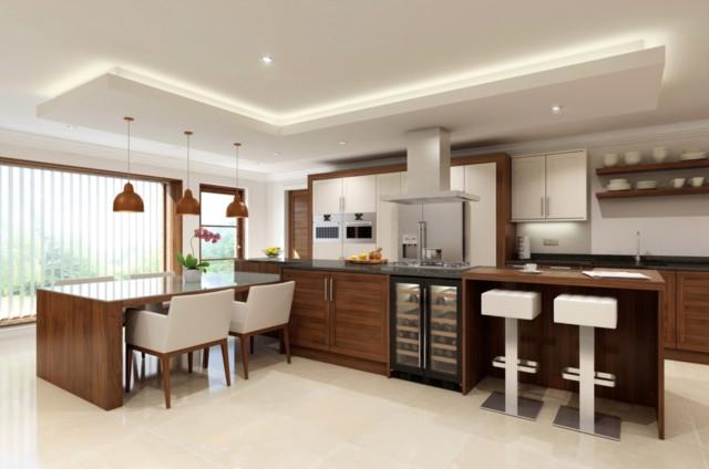 Walnut Deco Alternative Kitchen Design