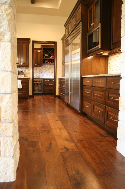 Walnut contemporary kitchen by hardwood designs for Wood flooring kitchen ideas