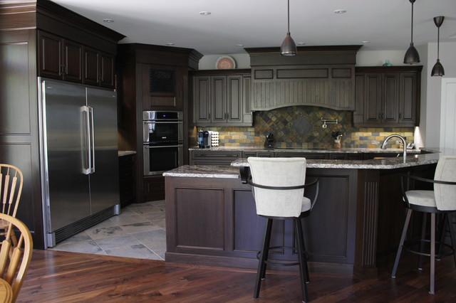 walnut traditional-kitchen