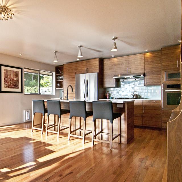 Walnut ikea kitchen contemporary kitchen seattle for Kitchen cabinets seattle
