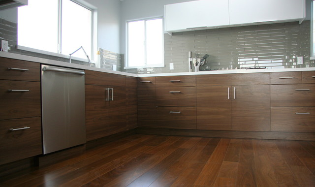 semi handmade doors walnut ikea kitchen contemporary kitchen los angeles 6713