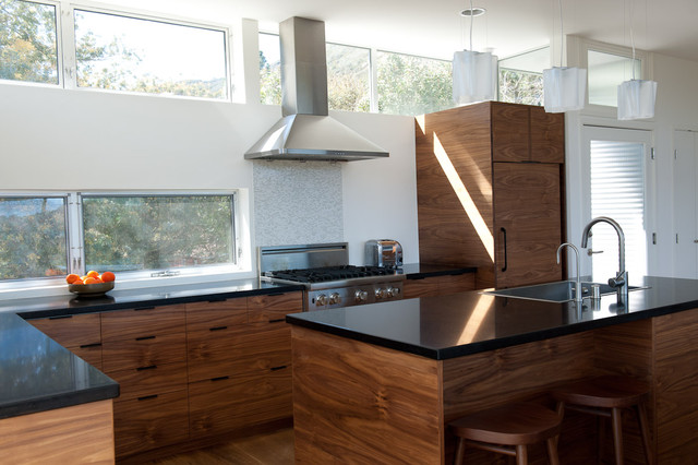 Walnut Ikea Kitchen Contemporary Kitchen Los Angeles
