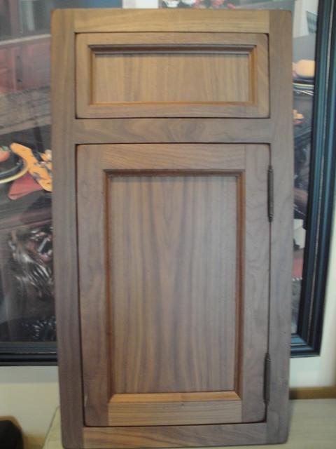 walnut inset door style craftsman-kitchen
