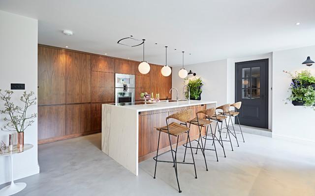 HCC Interiors · Interior Designers U0026 Decorators. Walnut Kitchen  Midcentury Kitchen
