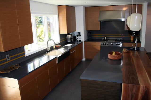 walnut kitchen modern-kitchen