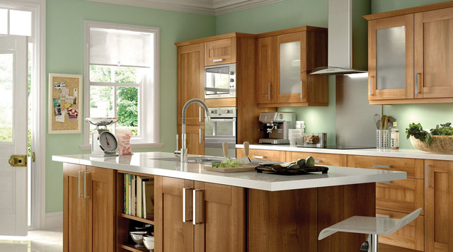 Walnut Style Shaker Kitchen Contemporary Kitchen Part 81