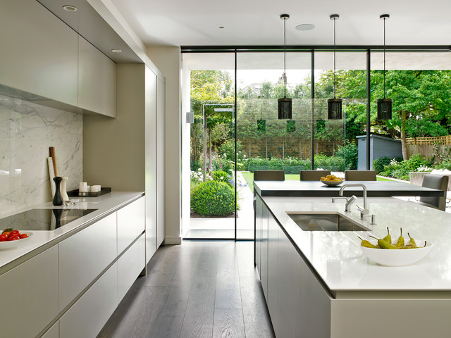 Wandsworth contemporary bespoke grey kitchen contemporary kitchen london by brayer design Bespoke contemporary kitchen design