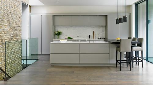 Wandsworth contemporary bespoke grey kitchen