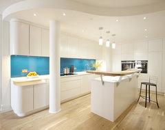Wapping E1W: Stylish Wharf Flat contemporary-kitchen