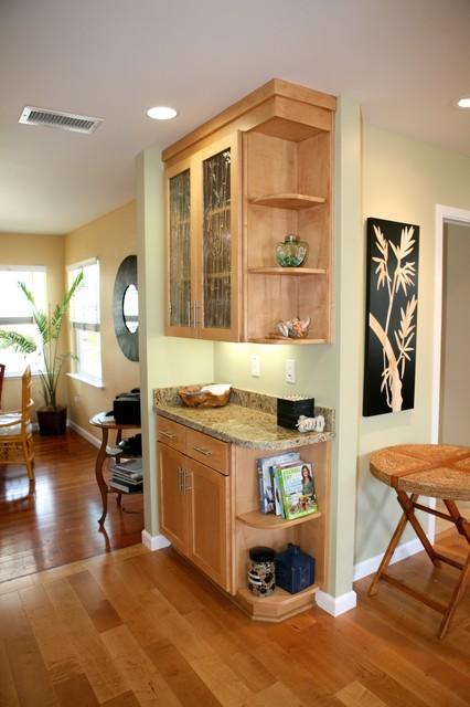 Warm Inviting Beach Cottage Santa Cruz Garage Conversion Remodel Contemporary Kitchen