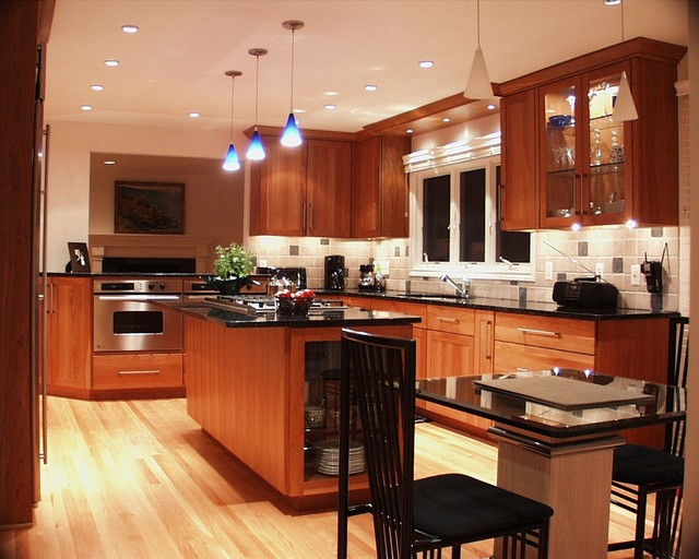 Warm Contemporary Contemporary Kitchen Detroit By Kitchens By Richards Inc
