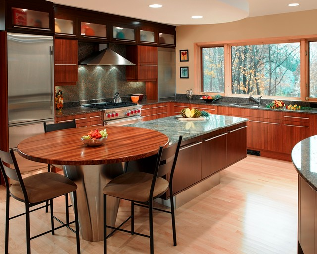 Warm Contemporary Contemporary Kitchen Other Metro By Kitchen Design Studio