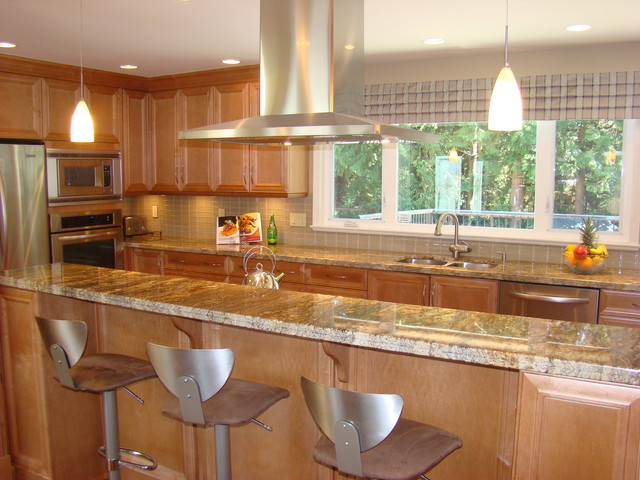 Warm Contemporary Transitional Kitchen Vancouver By Miccaro Designs Fine Residential