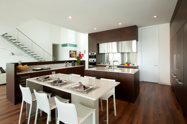 Warm Contemporary Contemporary Kitchen Miami By The Kitchenworks
