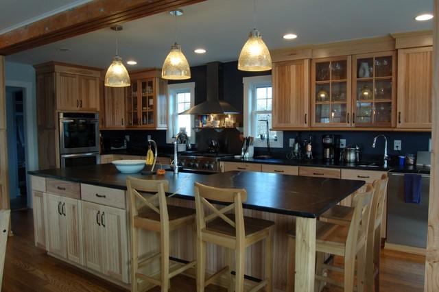 Warm Hickory Delight farmhouse-kitchen