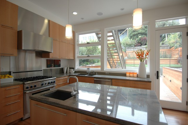 Warm Modern in Noe Valley-Kitchen modern-kitchen