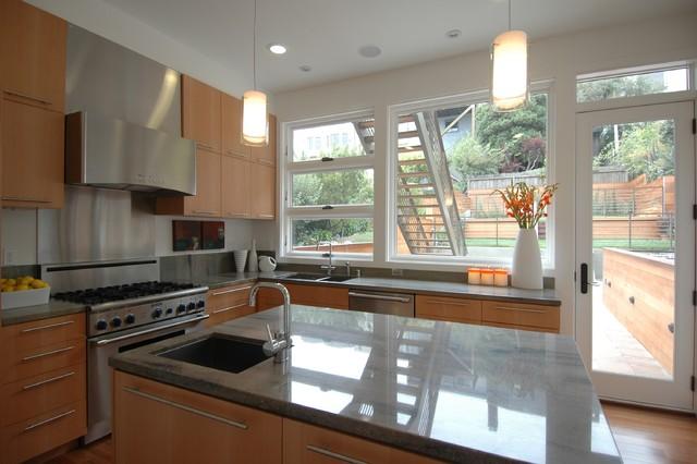 Warm Modern In Noe Valley Kitchen Modern Kitchen San Francisco By Mark Brand Architecture
