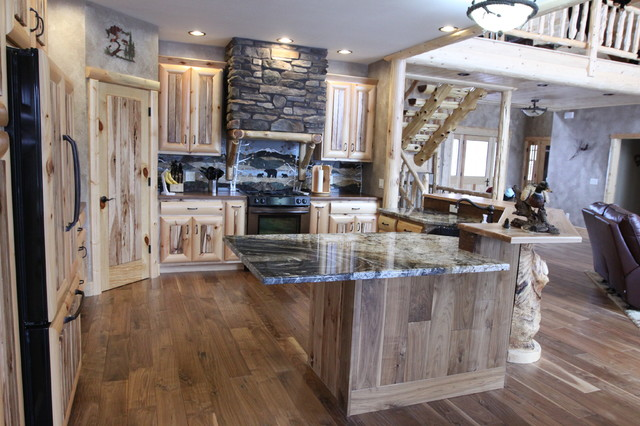 Warm rich rustic home rustic kitchen other metro for Rich kitchen designs