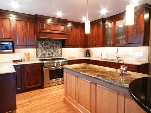 Warm Transitional traditional-kitchen